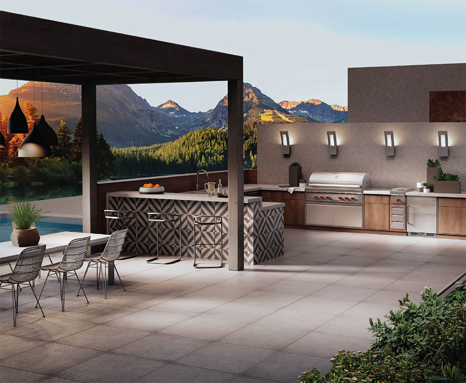 Your Other Room is Waiting Outside- Bend Outdoor Kitchen and Mountains