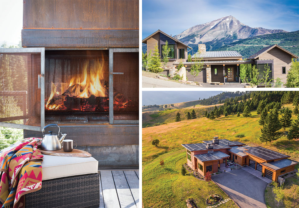 Bridger Steel and Ridgeline Metal- Bend Fire Pit and House Exteriors