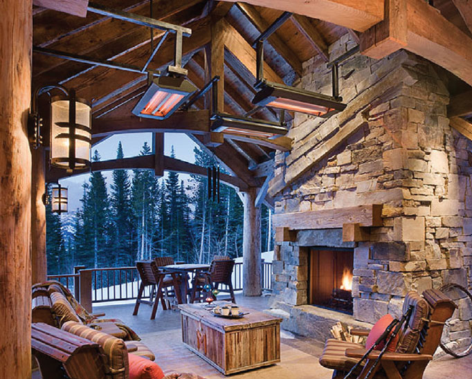Builders Round Table- Bozeman-Big Sky Patio and Fireplace