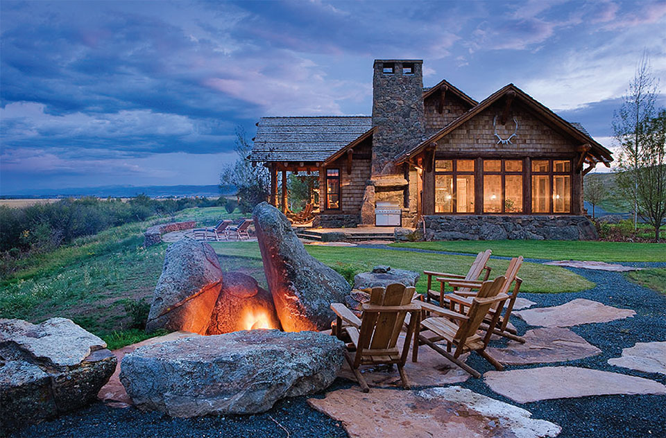 Builders Round Table- Bozeman-Big Sky Fire Pit and House
