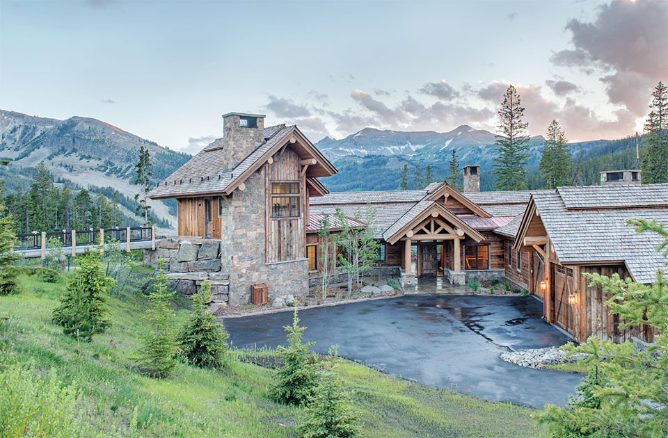 Builders Round Table- Bozeman-Big Sky Mountain and House