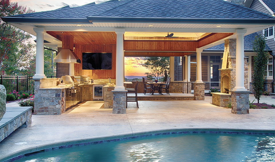 Entertaining Your Dreams with Mountain Land Design- Jackson Hole Pool and Patio