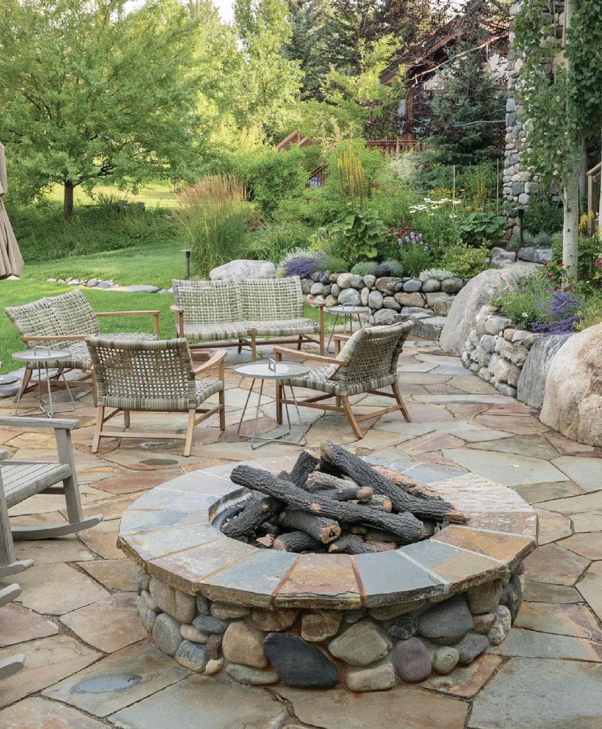 Your Other Room is Waiting Outside- Sun Valley Fire Pit and Chairs