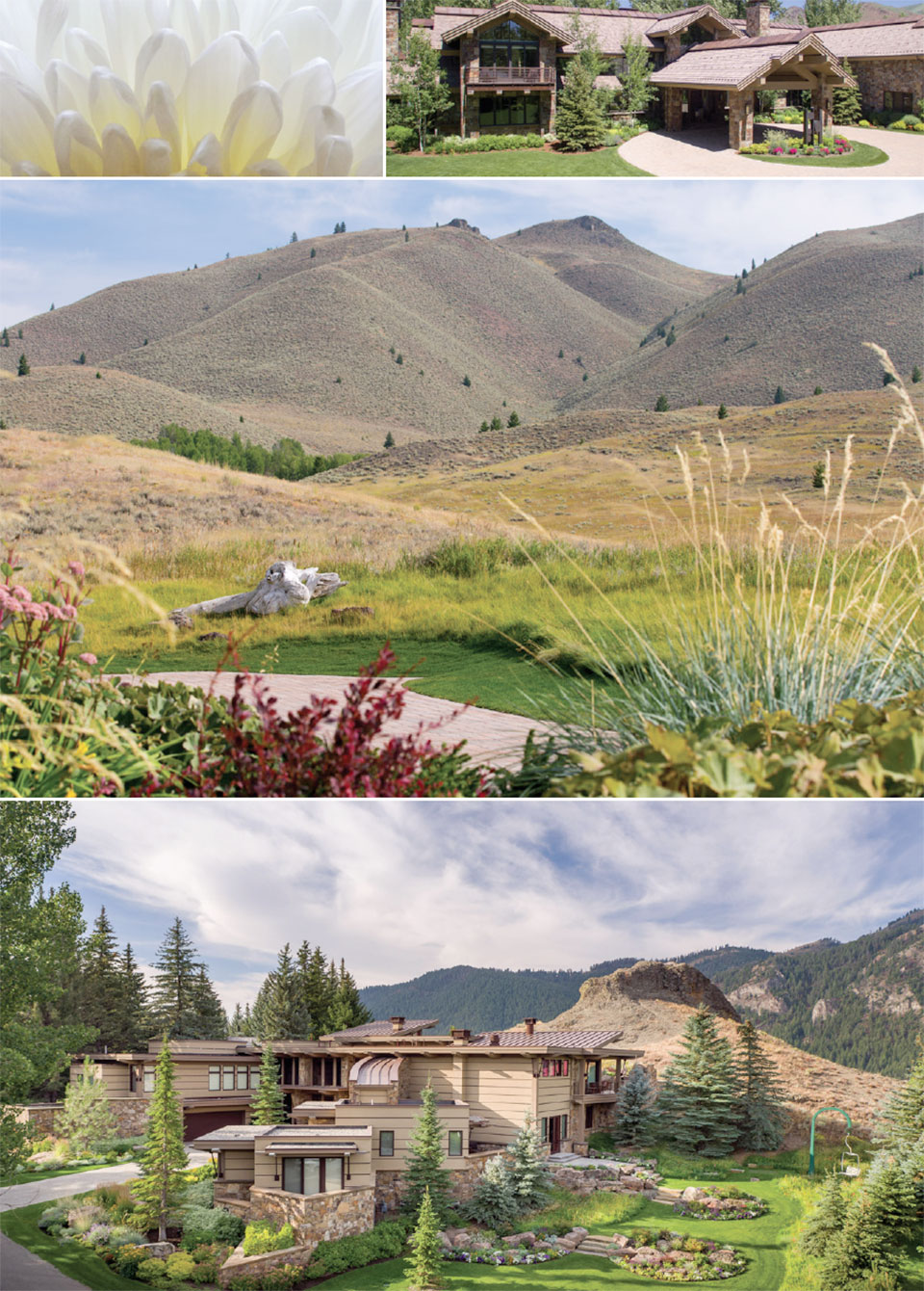Rooted in the Wood River Valley- Sun Valley House Exterior and Flowers