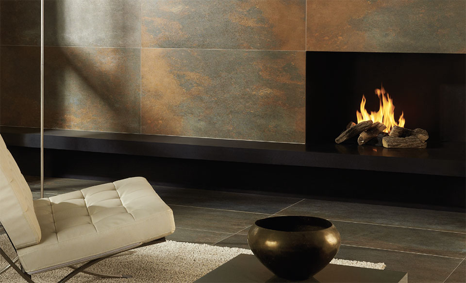 Classing It Up With Tile- Park City Fireplace