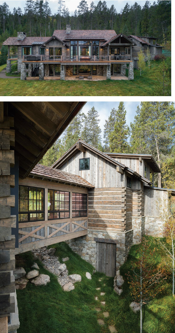DESIGN ASSOCIATES- Jackson Hole House Exterior 2