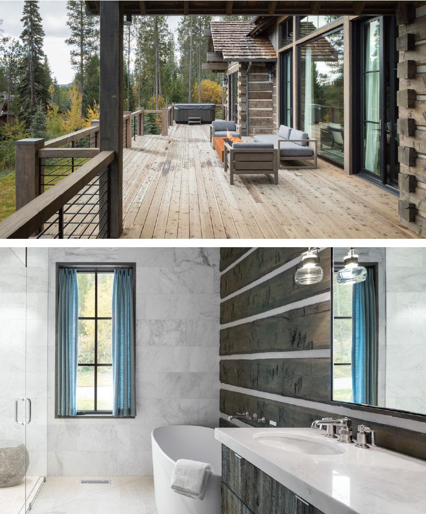 DESIGN ASSOCIATES- Jackson Hole Patio and Bathroom