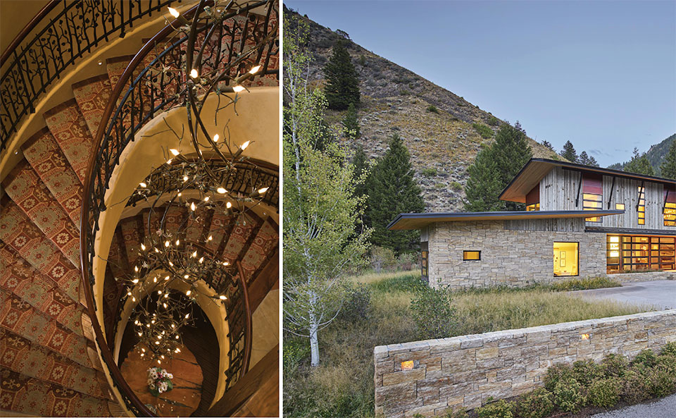TETON HERITAGE BUILDERS- Jackson Hole Stairs and Outside
