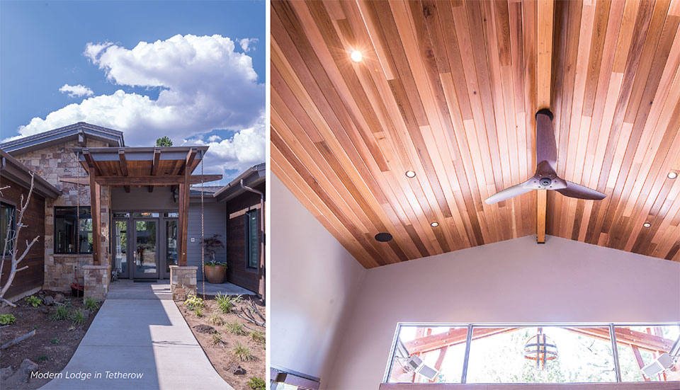Building Science for A Sustainable Future- Bend Front door and Ceiling