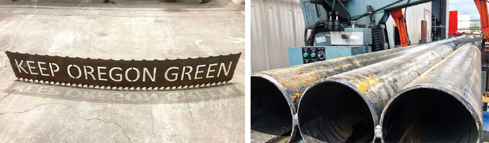 The Flexibility of Steel- Bend Sign and Pipe