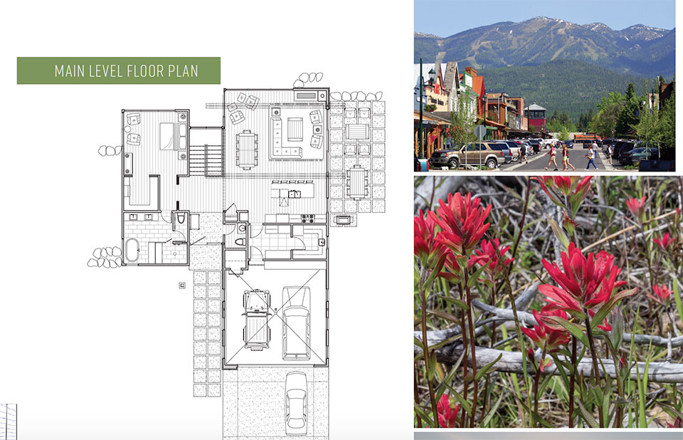 MEDICINE ROCK- Flathead Valley Floor Plan, Town and Flowers