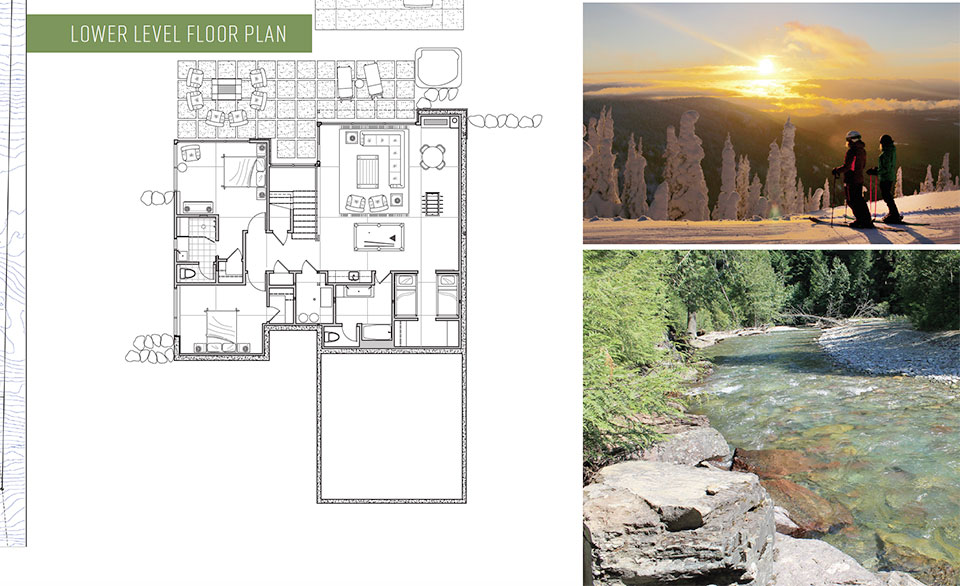 MEDICINE ROCK- Flathead Valley Floor Plan, Skiing and River
