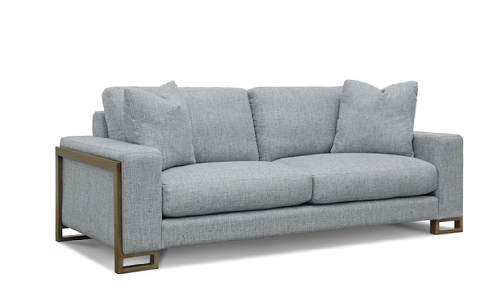 On The Hunt- Flathead Valley Grey Sofa 2