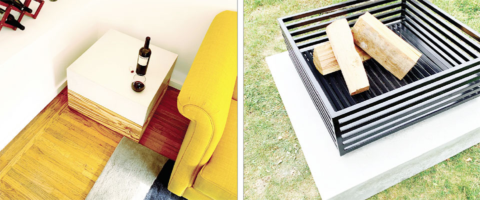 ONE-OF-A-KIND INTERIORS- Flathead Valley Fire Pit and Side Table