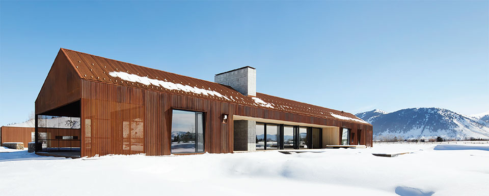 CLB Architects- Bozeman-Big Sky House Exterior