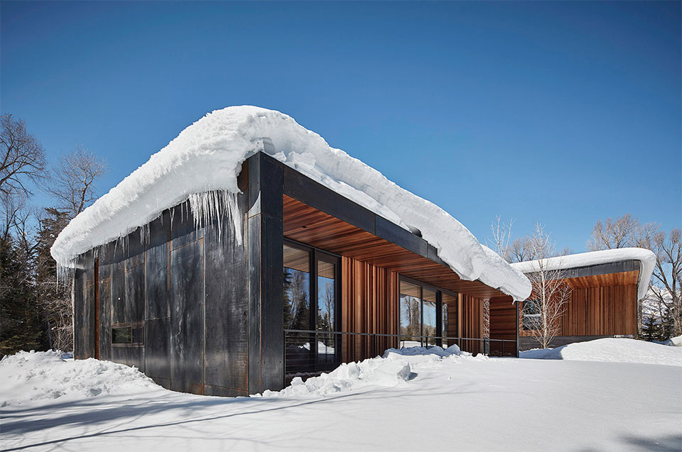 CLB Architects- Bozeman-Big Sky House Exterior 2