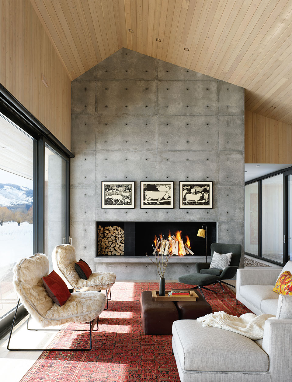 CLB Architects- Bozeman-Big Sky Living Room