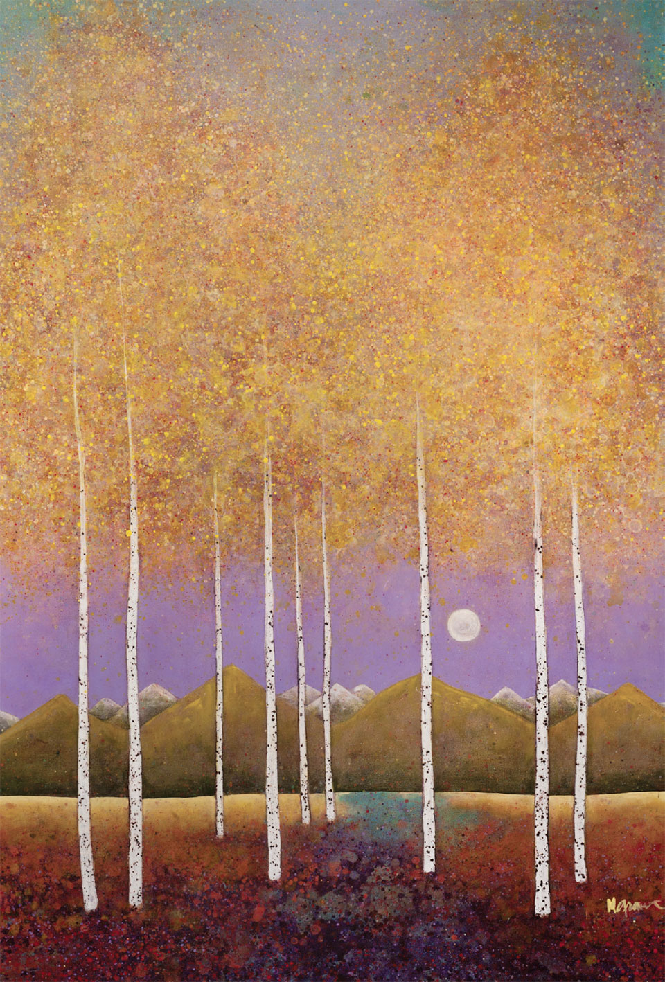 Art in Jackson- Jackson Hole Tree Painting 2