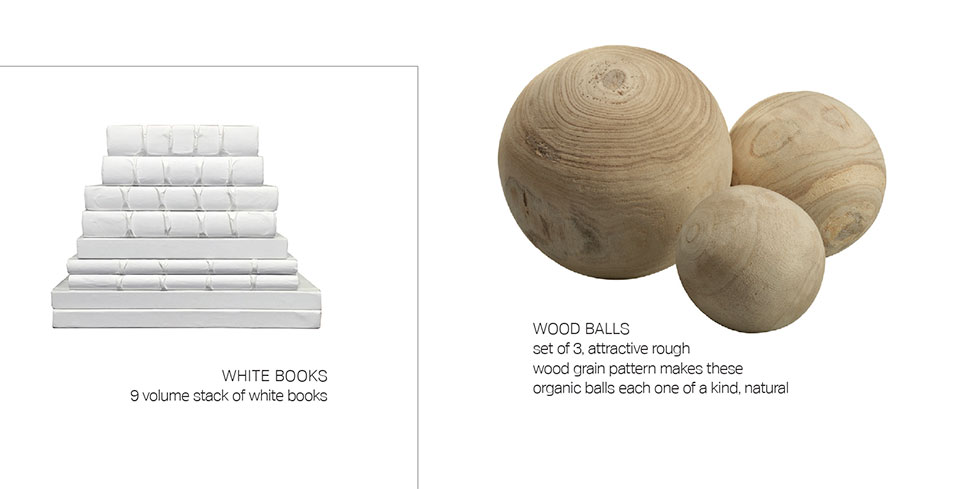 Anne Buresh Interior Design- Jackson Hole White Books and Wood Balls
