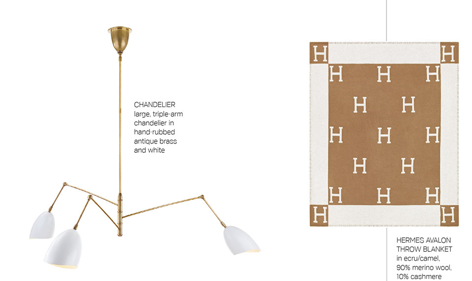 Anne Buresh Interior Design- Jackson Hole Chandelier and Blanket