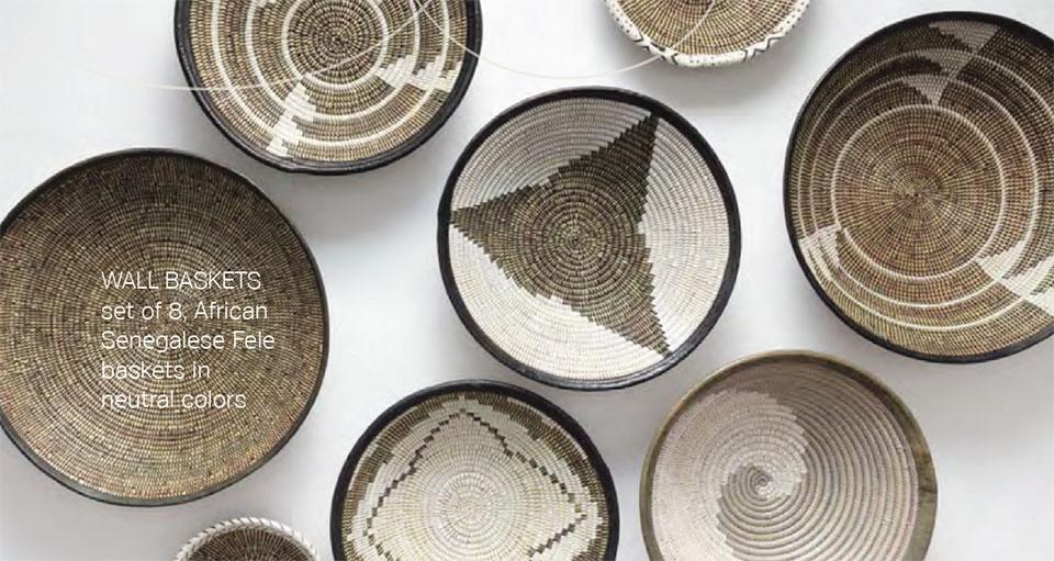 Anne Buresh Interior Design- Jackson Hole Wall Baskets