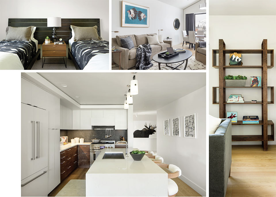 Old Block, New Kid- Jackson Hole Kitchen, Bedroom and Living Room