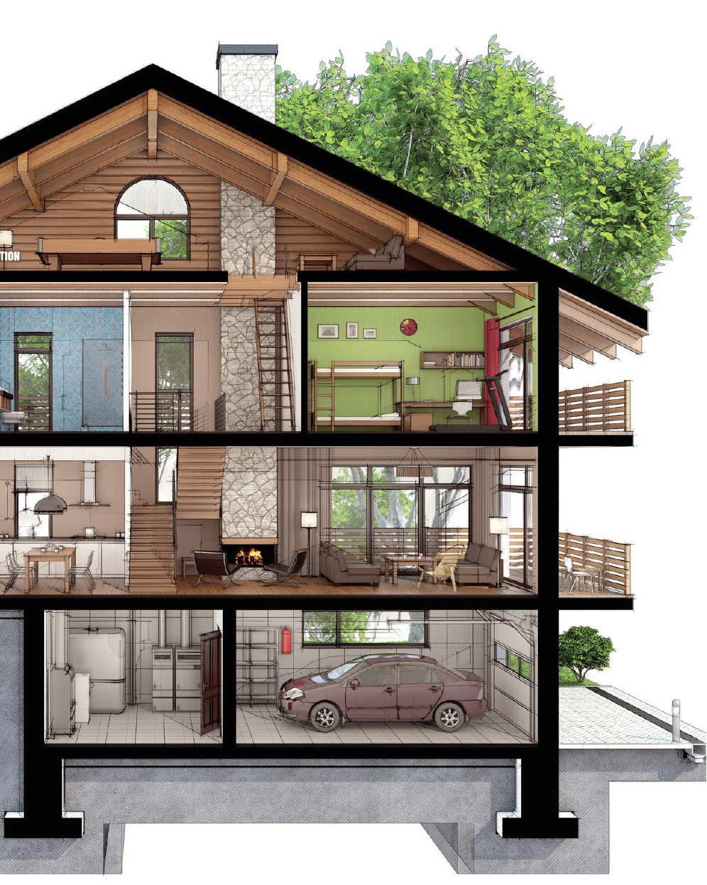 Building Science | Modern Technologies- Park City House Drawing 2