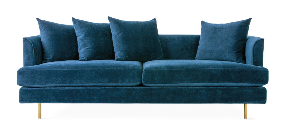 On The Hunt- Sun Valley Blue Sofa