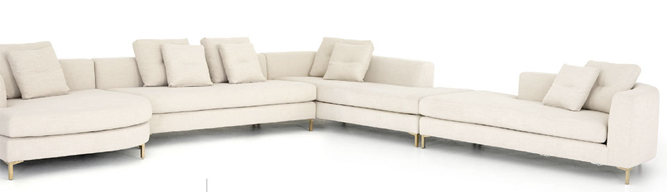 On The Hunt- Sun Valley White Sofa