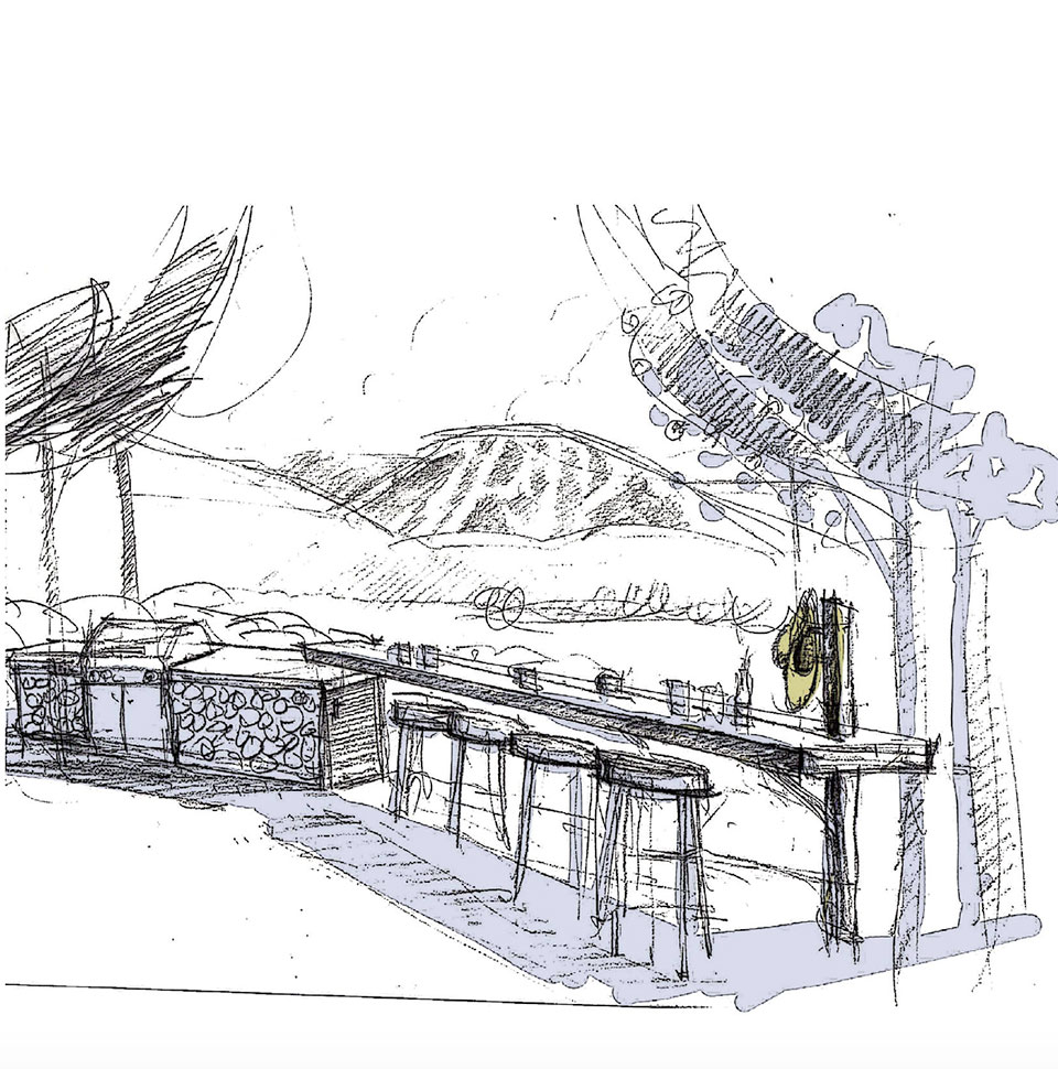 Steel- Sun Valley Outdoor Patio Drawing