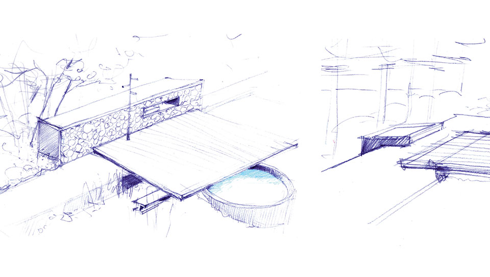 Steel- Sun Valley Outdoor Patio Drawing 2