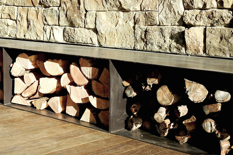 Steel- Sun Valley Firewood Bin