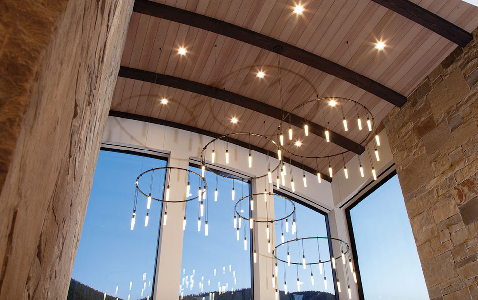 Steel- Sun Valley Ceiling Lighting