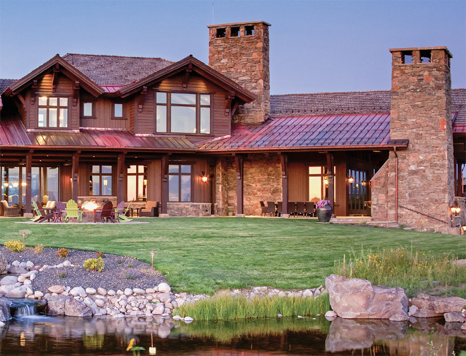 The Relationships that Make a House a Home- Jackson Hole House Exterior