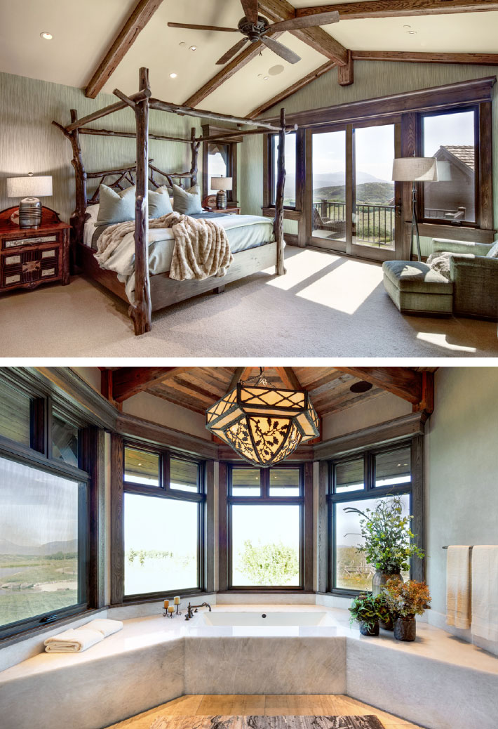 The Relationships that Make a House a Home- Jackson Hole Bedroom and Bathroom