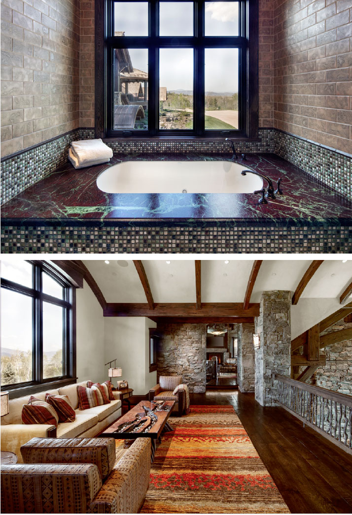 The Relationships that Make a House a Home- Jackson Hole Bathtub and Living Room