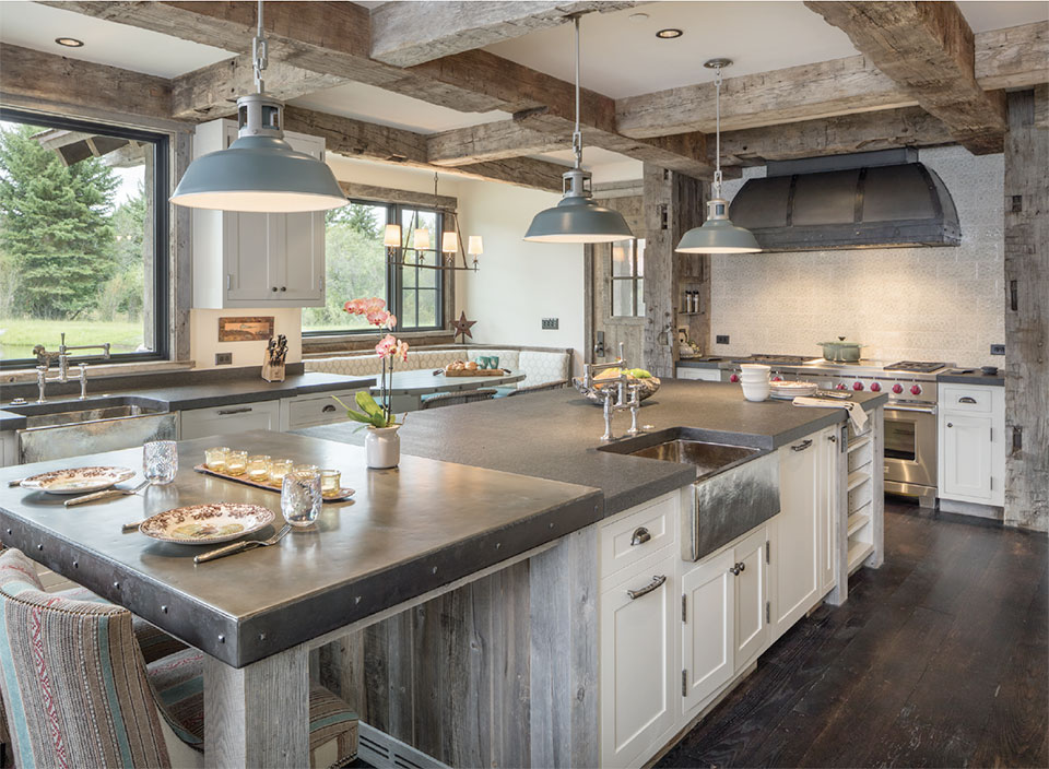 Surfaces- Bend Kitchen and Reclaimed Wood