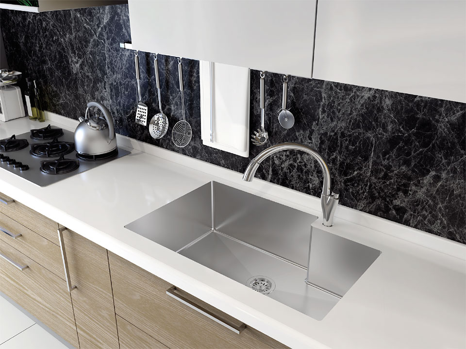 Surfaces- Bend Tile and Sink